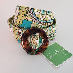 Vera Bradley Peacock Print Fabric Belt